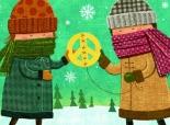 Illustration of friends sharing.