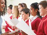 Woman teaching choir