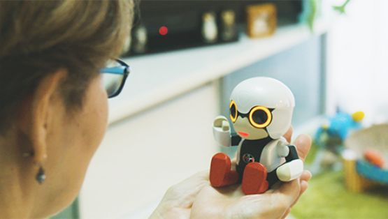 Kirobo Mini can fit in the palm of your hand.