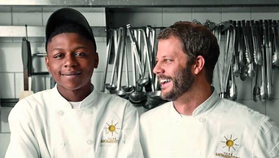 Intern Malik Runnels and Chef Chad Houser