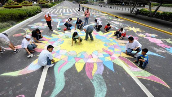 Philippines chalk drawing
