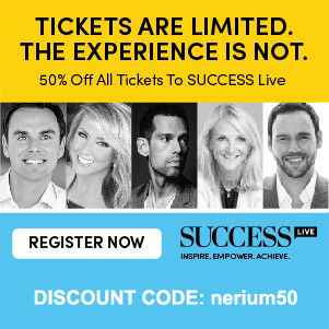 Tickets are limited. The experience is not. 50% off all tickets to SUCCESS live. Discount code: nerium50