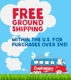 Free shipping with purchases over $45!