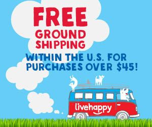 Free ground shipping within the U.S. for purchases over $45!