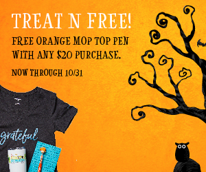 Free Orange Mop-Top Pen with purchases $20+
