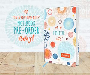 """On a Positive Note"" Notebook available for pre-order now!"