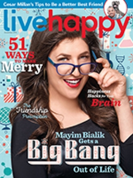 Live Happy December 2016 issue cover.