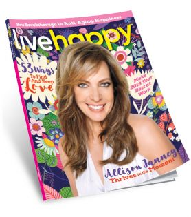Allison Janney on cover of Live Happy magazine