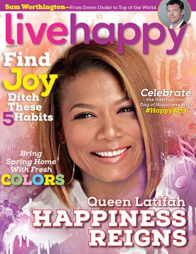 Queen Latifah on the May Issue of Live Happy