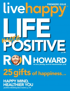 Live Happy magazine cover, Premier Issue 2013