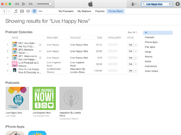 How to download a podcast and review | Live Happy Magazine